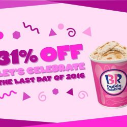 [Baskin Robbins] Countdown to 2017 with 31% off for any handpacked!