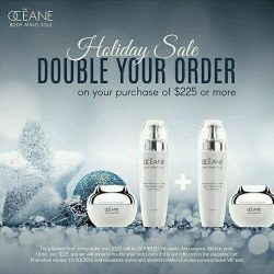[OCEANE] Shop our holiday sale and visit the website and double your order! http://ow.ly/w0aq306W7Zz • • • • • • • • • #beauty #luxury #skincare #indulge #