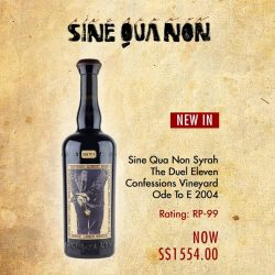 [The Oaks Cellars] NEW IN!Sine Qua Non Syrah The Duel Eleven Confessions Vineyard Ode To E 2004http://bit.ly/2iyWr2t#theOaksCellars #