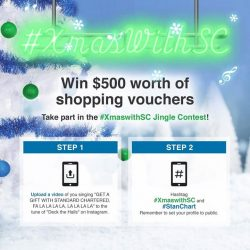 [Standard Chartered Bank] Here's your last chance to win $500 worth of shopping vouchers because we are down to selecting the final