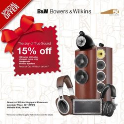 [B&W Bowers & Wilkins] Give the Gift of True Sound.Don't miss our special New Year Joy Promotion from 28th Dec 2016 to