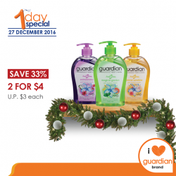 [Guardian] Guardian Fresh Clean assorted Gel Hand Wash gently cleanses and freshes your delicate hands with its soap-free and pH
