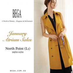 [BEGA] Glam up your new look for New Year's at our Atrium Sales in Northpoint,Singapore from 2 January to