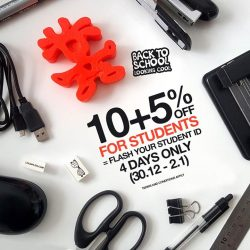 [Crumpler] Brace yourself, school term is back. 10+5% OFF for all students.Kindly flash your student ID to enjoy this