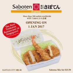 [Saboten] Introducing Saboten Express, our newest concept at Raffles City Shopping Centre! Offering a selection of our best-selling tonkatsu for
