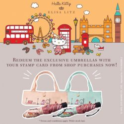 [Elisa Litz] Redeem the Hello Kitty exclusive umbrellas with your stamp card from shop purchases now! (。♥‿♥。)/*T&C Stamp card is needed