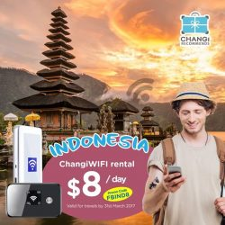[Changi Recommends] Travel like a local as you navigate worry free in Indonesia with ChangiWIFI at $8 a day! Quote FBIND8 to