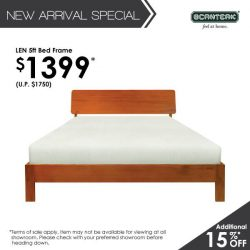 [Scanteak] With its minimalist design and solid teak interior, it's no wonder our all-new LEN Bed Frame has been