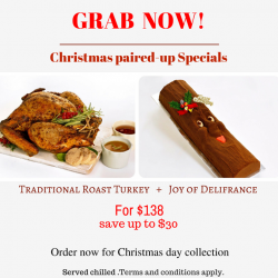 [Delifrance Singapore] Delifrance brings you the most awaited Christmas offers. Grab our delicious Roast Turkey and Joy Of Delifrance at exciting prizes.