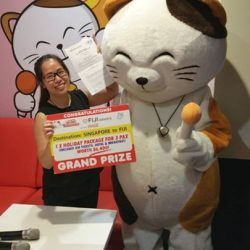 [Manekineko Karaoke Singapore] Thank you all for the participation for our FIJI Lucky Draw Campaign, we are pleased to announce our lucky winner