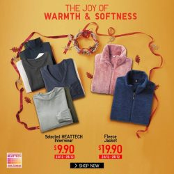 [Uniqlo Singapore] Share the gift of warmth and softness with extra thin HEATTECH and fleece jackets! These are great for keeping your