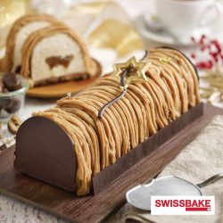 [Swissbake] It's beginning to look a lot like Christmas with our Mont Blanc Log Cake and we've got great