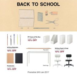 [MUJI Singapore] Back to School Promotion is back! It's time to stock up on the writing materials and everything you need