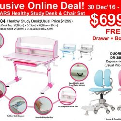 [Ergoworks] Less than 48 hours! Grab your Exclusive Online Deal NOW!ERGOSTARS Healthy Study Desk & Chair Set is your BEST gift