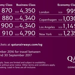 Qatar Airways: Fabulous Fares to Europe from $870 + Additional 10% OFF for DBS/POSB Cardmembers