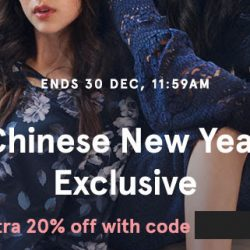 Zalora: Coupon Code for Extra 20% OFF Chinese New Year Exclusive Pieces