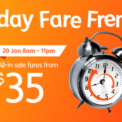 Jetstar: Friday FREE Fare Frenzy to Kuala Lumpur, Hong Kong, Bangkok, Taipei & more from $35 One-Way All in!