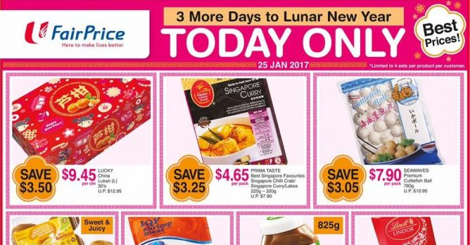 NTUC FairPrice: Special ONE-DAY Only Deals 25 Jan 2017 - 👑BQ sg