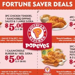 Popeyes: Dine-In Reunion Specials & Fortune Saver Coupon Deals