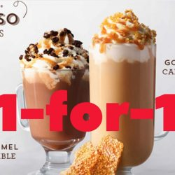 Starbucks: 1-for-1 Salted Caramel Mocha Crumble & Golden Sesame Caramel Crunch Latte for Members