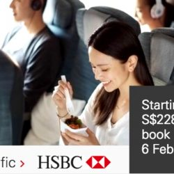 Cathay Pacific: Special Economy Class Fares from $228 All-Inclusive with HSBC Cards