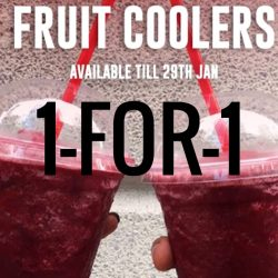 Costa Coffee: 1-for-1 Blackberry and Raspberry Fruit Coolers