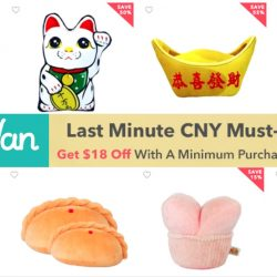 HipVan: Coupon Code for $18 OFF Last Minute CNY Must-Haves