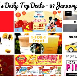 BQ's Daily Top Deals: Up to $8 OFF Cab Rides, 1-for-1 Starbucks Drink, $8 OFF Disney on Ice, :CHOCOOLATE x GUDETAMA Collection & More!