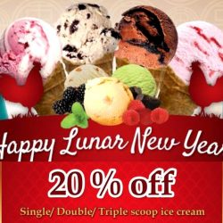 New Zealand Natural Cafe: Get 20% OFF for Single/Double/Triple scoop of selected New Zealand Natural ice cream!