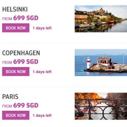 Finnair: Fly to Europe including Paris, Stockholm, Helsinki, Brussels, Amsterdam & more from SGD699 All-in!