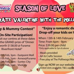 [The Polliwogs] When is the last time any Daddy & Mummy truly had a world of their own on Valentine Day? Well, we