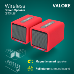 [Valore Challenger] Enjoy your favourite music, videos and streaming content with full stereo surround sound with this Valore Wireless Stereo Speaker (BTS126).