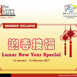 [City Square Mall] Exciting Lunar New Year Special at Pet Lovers Centre Singapore!Find out what's in store for you and your