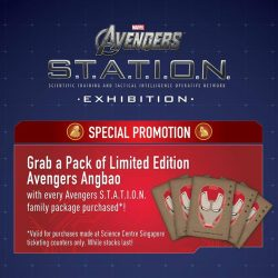 [Elements @ Play by Science Centre Singapore] Get your free limited edition #AvengersSTATIONSG ang baos with every AVENGERS S.T.A.T.I.O.N. Family Package