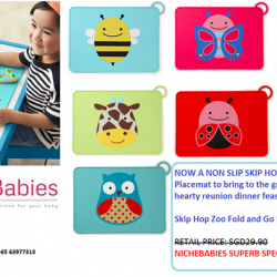 [Nichebabies] Skip Hop Zoo Fold and Go Placemat!RETAIL PRICE: SGD29.90 NICHEBABIES LIMITED TIME SPECIAL: SGD22.90!!Skip Hop Zoo