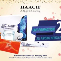 [HAACH] Our Natural Health products, Super Detox and Beauty Collage are having 20% discount at all HAACH and Dr HAACH outlets.