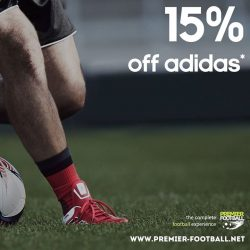 [Premier Football Singapore] Buy a pair of regular price adidas shoes, 1 adidas shoe bag and a pair of adidas socks and receive