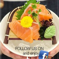 [Three by Table Concept at Foodfare] Opening Promotion: Follow and get our salmon sashimi for $2!That's it!
