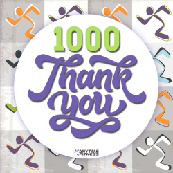 [Anytime Fitness] A big Shout out to every single one of our 1000+ IG Followers over at @anytime.fitness.nex We are