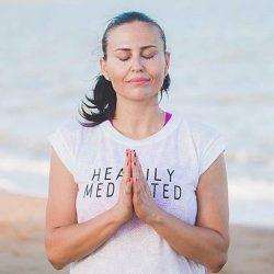 [Lorna Jane] The best way to end a work day is with a mindful hour of yoga and meditation - and you need