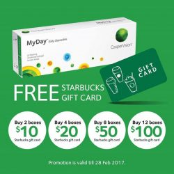 [Capitol Optical] Don't forget! Capitol Optical is giving out FREE Starbucks gift card* with purchase of MyDay daily disposable contact lenses