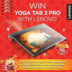 [Lenovo] HUAT with us at Bugis Junction today and WIN A YOGA TAB 3 PRO simply by: A) Spot and take