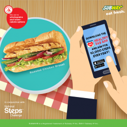 [Subway Singapore] Time to get healthy and stand a chance to win some great prizes! Start with your diet - With 16 subs,