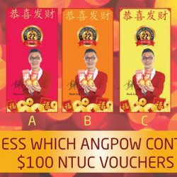 [WEIKEN.COM] Guess which AngBao contains $100 NTUC Vouchers ???To Win: 1. Like and Share this post with your friends 2. Key
