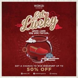 [Wakai] Have fun shopping at our store 21 Jan - 27 Jan. With every pair purchase, stand to enjoy up to 50%