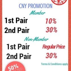 [Dr Kong] Have you shop for the coming lunar new year? Get up to 30% discount on your second regular price footwear!