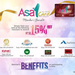 [ASA Holidays] We have good news for all our lovely members! Simply flash your ASA member card at any of our participating