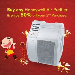 [Harvey Norman] Now till 31 January 2017, buy any Honeywell Air Purifier and enjoy 50% off the 2nd purchase of the same
