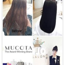 [Kenjo Salon] Hair color using Mucota Dark Ash color and Volume Rebonding using Omega Product by Mucota. Hair Done By Korean Director