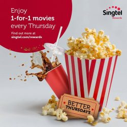 [Singtel] Enjoy 1-for-1 movies every Thursday at The Cathay Cineplex (Handy Road). Simply show your Singtel operator logo or